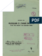 Report on Russian C.I. Tank Engine, Type V2 from T-34 Cruiser Tank