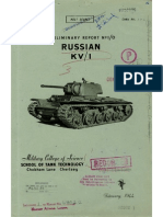Preliminary Report No. 10 - Russian KV-1