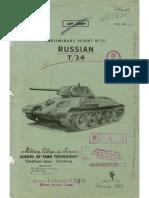 Preliminary Report No. 20 - Russian T-34