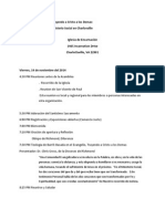 PSM Regional Gathering Agenda (Spanish)