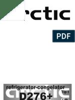 Manual de Instructiuni D276+(Frigider Arctic)