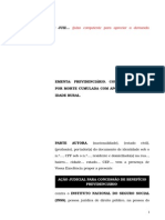 74.1- Pet. inicial - Pensão por morte – Possibilidade de cumulação com aposentadoria por idade rural.doc