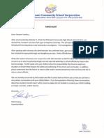 Clark-Pleasant letter