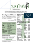 Corpus Christi Sunday Bulletin May 03 - 04, 2014