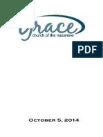 Worship Folder October 5,2014