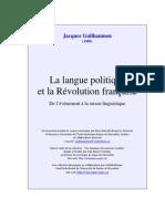 La langue politique  et la Révolution française