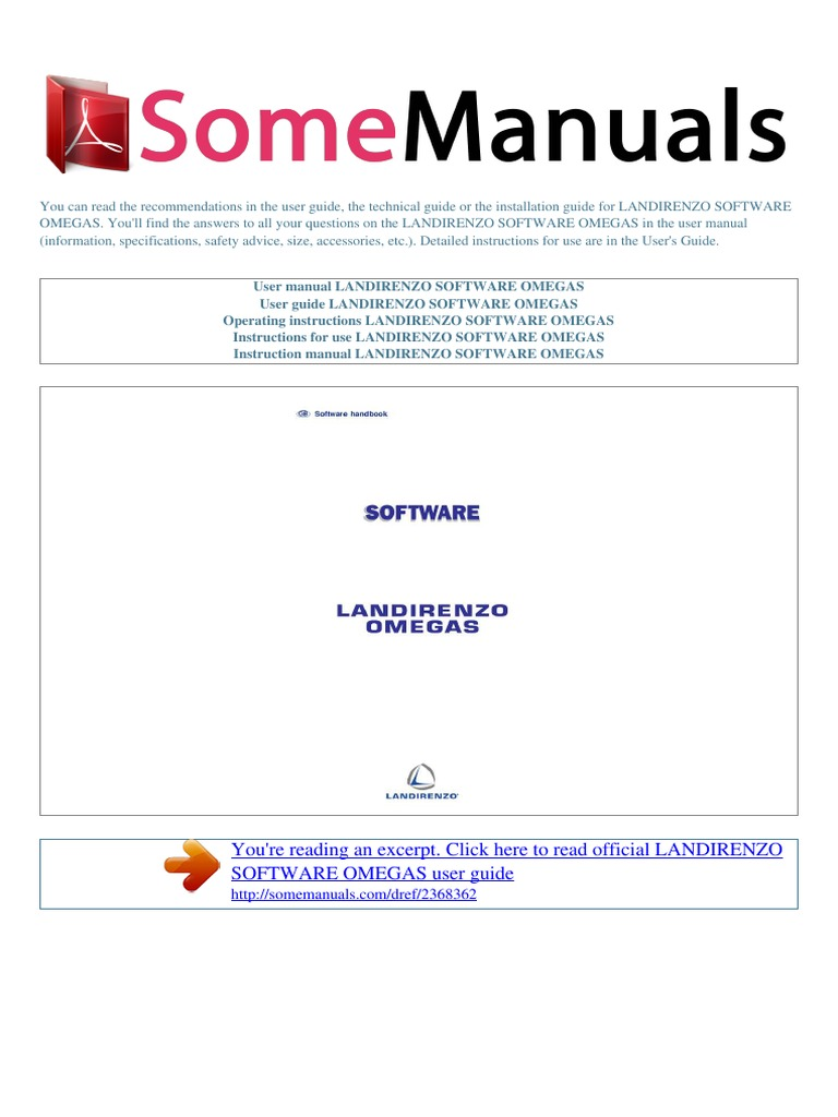 User Manual Landirenzo Omegas Software | Installation (Computer Programs) |  Relay