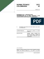 NTC 92 Determinación de la Masa Unitaria y los Vacíos entre Partículas de Agregados.pdf
