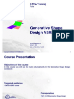 Generative Shape Design V5R8 Update