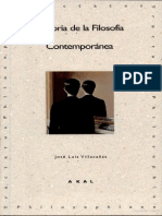 Historia de la Filosofía Contemporánea - José Luis Villacañas.pdf