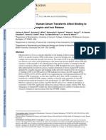 Ionic Residues of Human Serum Transferrin Affetc Its Binding to TfR