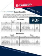 E-Bulletin 3 Oct 2014