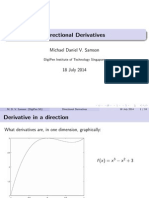 Directed Derivatives