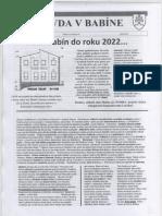 Vízia Babína Do Roku 2022...