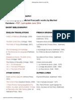Bibliographies Michel Foucault, Info.pdf