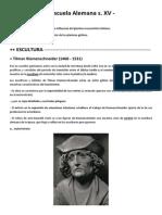 F- Tp1- Art. Plásticas II- Alemania s. v y Flandes s. XVI -Abalos