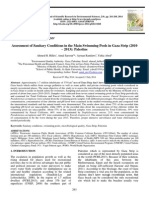 Assessment of Sanitary Conditions in the Main Swimming Pools in Gaza Strip (2010 – 2013)