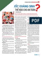Dung Thuoc Khang Sinh the Nao Cho an Toan