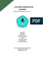 Analisa Kerja Puskesmas Dan Posyandu