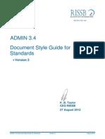 ADMIN 3_4 Document Style Guide for Standards v3 120827