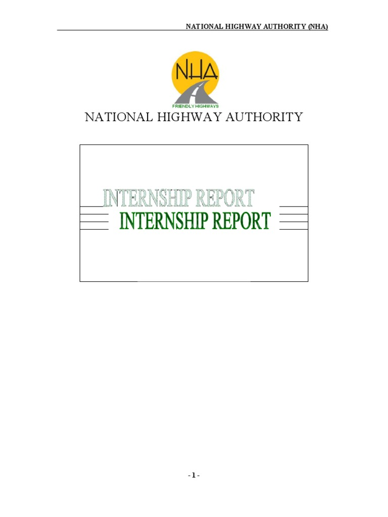 Internship Report On NHA | Bookkeeping | Debits And Credits