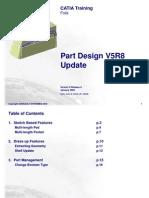 Part Design V5R8 Update