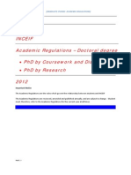 PHD Academic Regulations