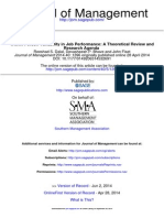person Variability in Job Performance- A Theoretical Review and Research Agenda. Journal of Management