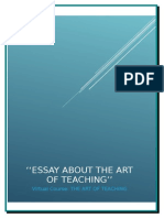 ESSAY ABOUT THE ART OF TEACHING.doc