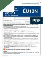 EU13N FORM 1314 Eurwpaiko Daneio