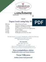 Lunchmeny Vecka 41