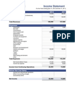 Income Statement Template for Website