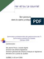 Presentation Gestion des courriels