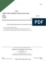 Terengganu Trial SPM 2013 Chemistry