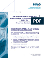 Thermal Insulation Materials Made of Rigid Polyurethane Foam