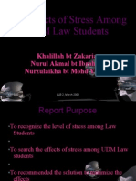 The Effects of Stress Among UDM Law Studentsfff