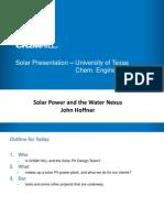 Solar Presentation John Hoffner