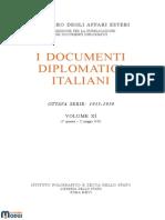 I Documenti Diplomatici Italiani. Ottava Serie 1935 – 1939. Vol. XI (1. Gennaio – 22 Maggio 1939)