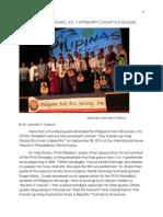 2014 Philippine Folk Arts Society's Rondalla Concert