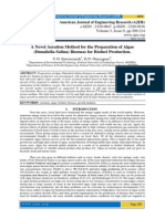 A Novel Aeration Method for the Preparation of Algae (Dunaliella Salina) Biomass for Biofuel Production