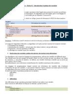 2. Algo - Fiche 1.doc