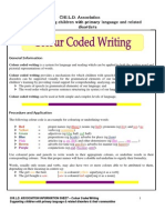 colour coded writing