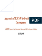 Approach of ICCMU to Quality and KPI Development