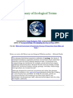 A Glossary of Ecological Terms