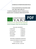 Cover Simulasi Laporan Diagnosis Dan Intervensi Komunitas