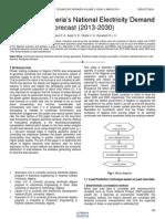 Analysis of Nigerias National Electricity Demand Forecast 2013 2030
