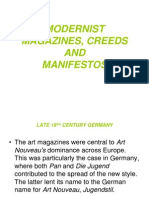 Modernist Magazines and Manifestos