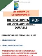 Les Enjeux Du Developpement