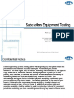 Substation Equipment Testing