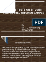 Quality of Bitumen & Modified Bitumen